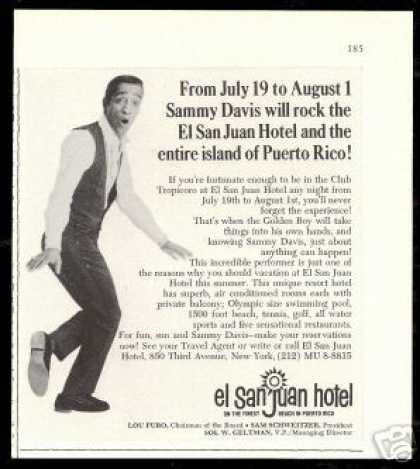 Sammy Davis Jr Photo El San Juan Hotel (1966)