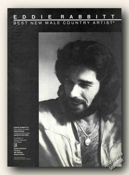 Eddie Rabbitt Photo Advertising Album Promo Music (1978)