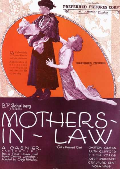 Mothers in law Mothers-in-law, USA (1920)