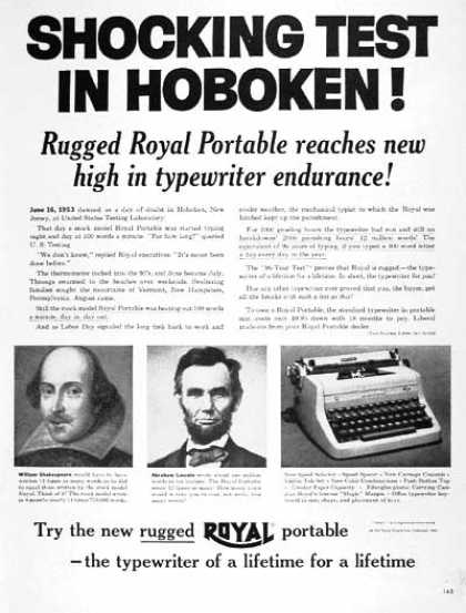 Royal Portable Typewriter (1954)