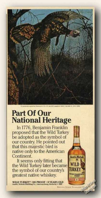Wild Turkey Bourbon National Heritage Promo (1983)