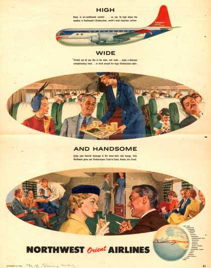 Northwest Orient Airlines – High... Wide... And Handsome (1954)