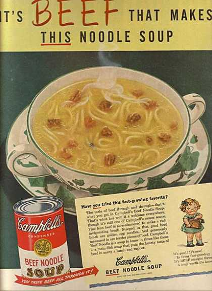 Campbell's Beef Noodle Soup (1948)