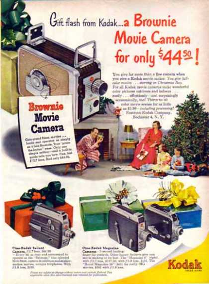 Kodak Brownie Movie Camera Christmas – Gift Flash (1951)
