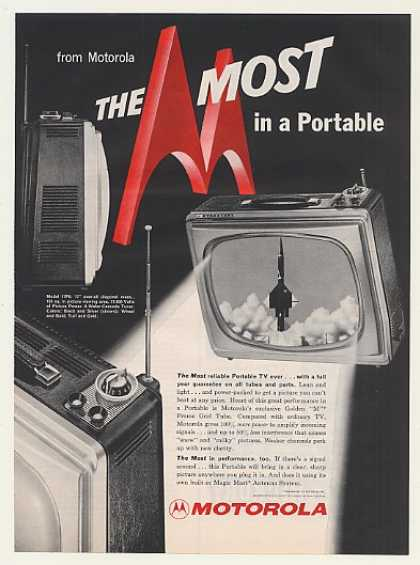Motorola Model 17P6 Portable TV Television (1959)