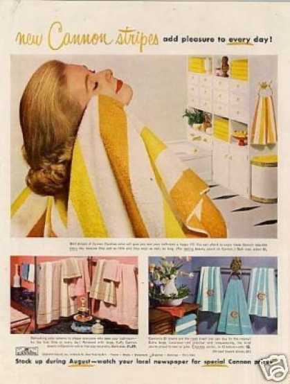 Cannon Towels (1957)