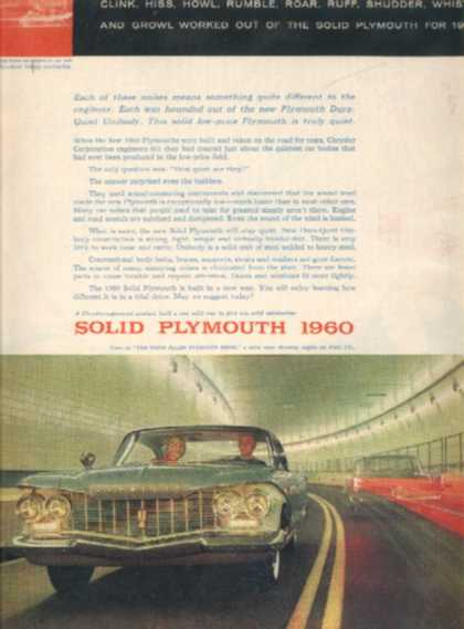 Chrysler's Plymouth (1960)