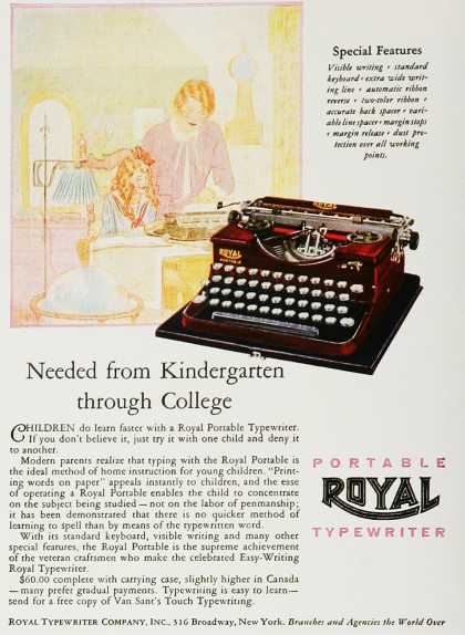 Portable Royal Typewriter