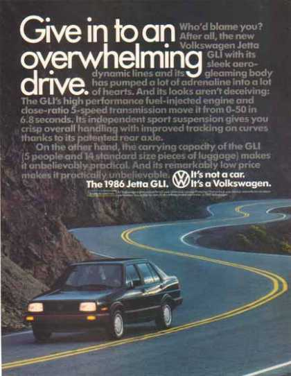 Volkswagen Jetta GLI Car – It's not a car. It's a Volkswagen (1986)