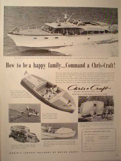 Chris Craft Boats & Heubleins Cocktails (1954)