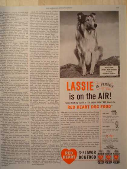 Red Heart Dog Food Lassie (1947)