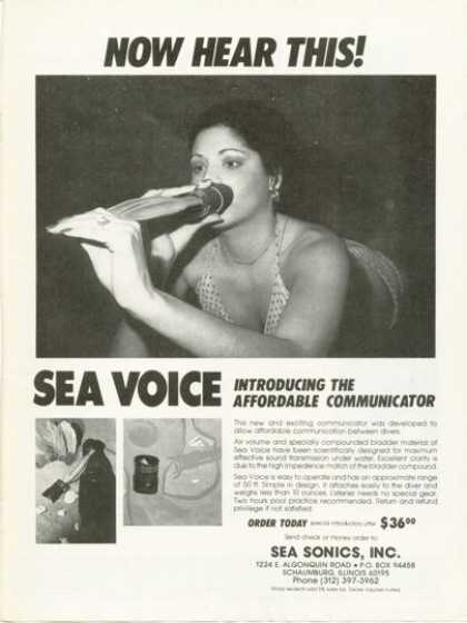 Sea Voice Underwater Communicator Ad T (1978)
