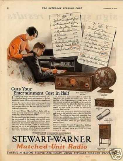 Stewart-warner Radio Color (1926)