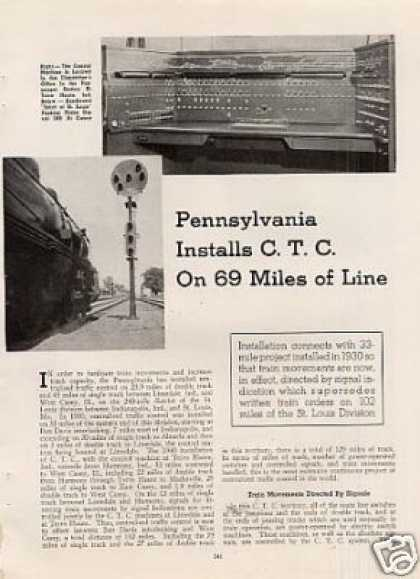 """Prr Installs C.t.c. On 69 Miles of Line"" Article (1941)"