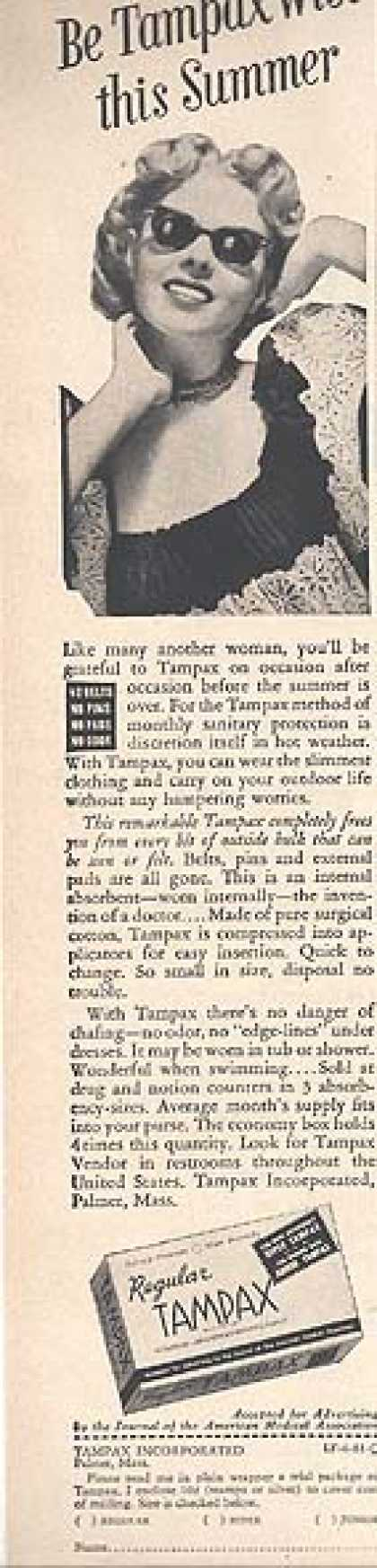 Tampax's Internal Absorbant (1951)