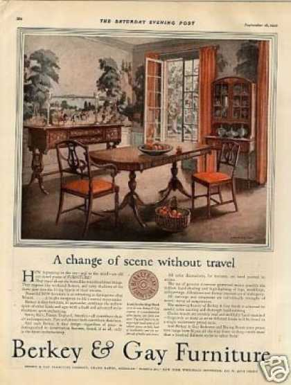 Berkey & Gay Furniture Color Ad Chenoweth Art (1926)