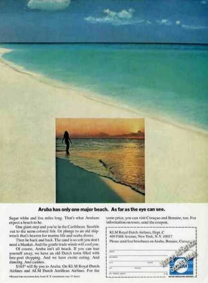 Aruba One Major Beach As Far As Eye Can See Alm (1970)