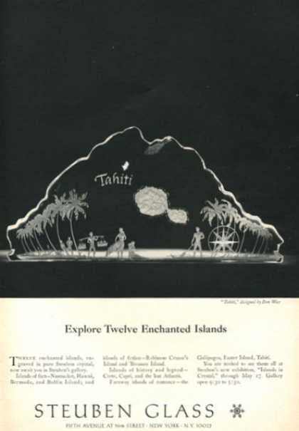 Steuben Glass Tahiti Twelve Enchanted Islands (1966)