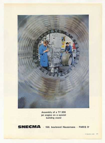 SNECMA TF 306 Jet Engine Assembly Photo (1966)