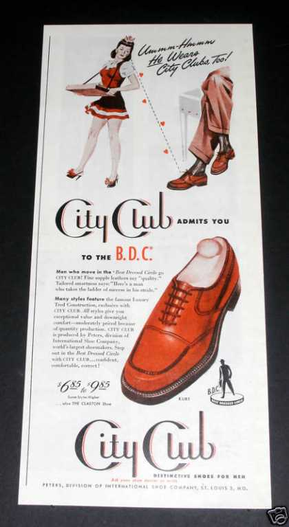 Old , City Club Shoes, Pin-up (1946)