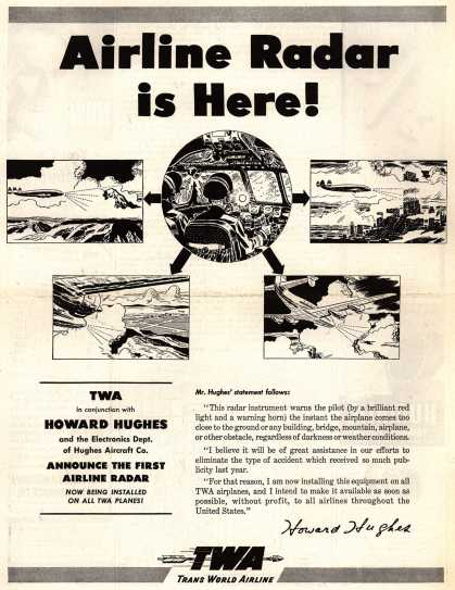 Trans World Airline's Airline Radar – Airline Radar is Here (1947)