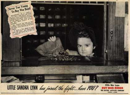 Electric Auto-Lite Co.'s 5th War Loan – Never Too Young To Buy War Bond (1944)