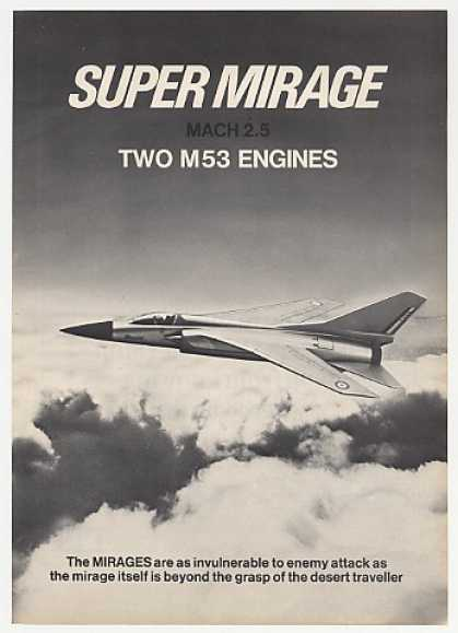 Dassault Super Mirage Aircraft Photo (1974)