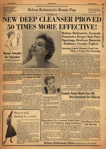 Helena Rubinstein's Various – New Deep Cleanser Proved 50 Times More Effective (1952)