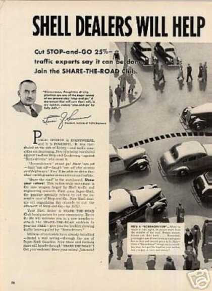 Shell Gasoline Ad 2 Page (1939)