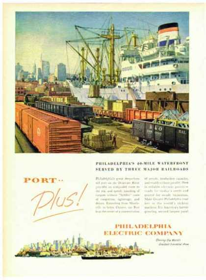 Philadelphia Electric Company – 40 – Mile Waterfront Port (1951)
