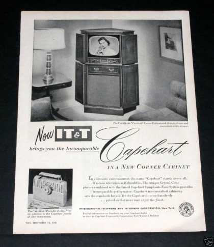 It&t Capehart Corner Tv Set (1951)