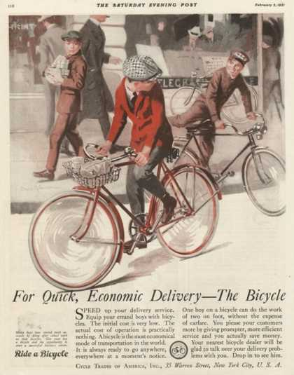 Bicycles, USA (1920)