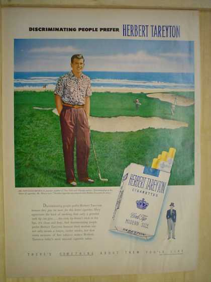 Herbert Tarryton Cigarettes Golf Theme Discriminating People (1950)