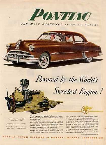 "Pontiac Car Ad ""Powered By the World's... (1950)"