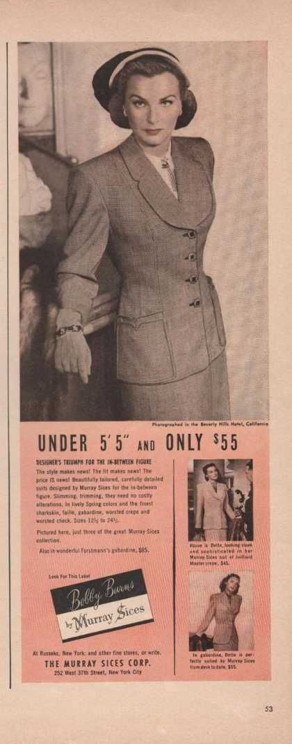 Murray Sices Bobby Burns Womens Suit (1949)