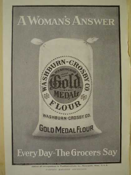 Gold Medal Flour A Woman's answer AND Tiffany & Co Fifth Ave NY NY (1910)
