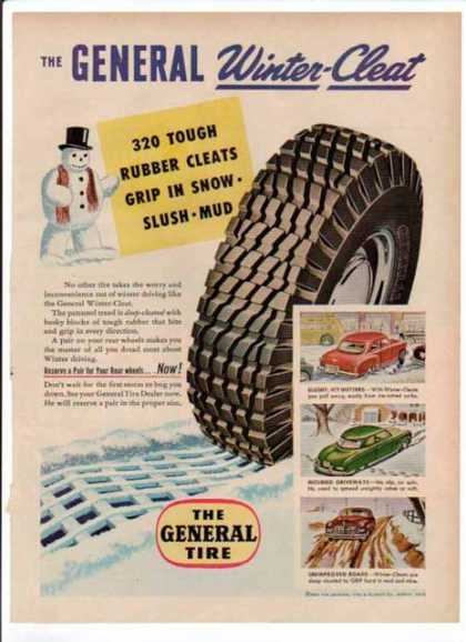 General Tire – The General Winter-Cleat (1951)