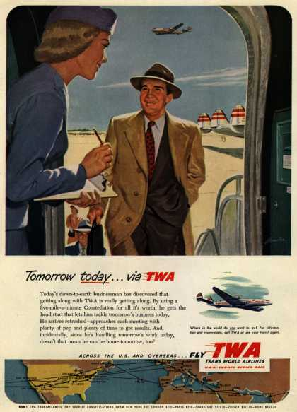 Trans World Airline's Business Travel – Tomorrow today... via TWA (1952)