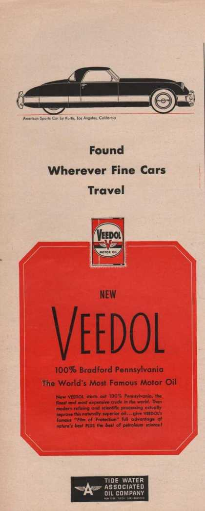 Veedol Motor Oil for Cars (1950)