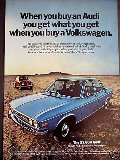 Audi Cars With Volkswagen Service (1971)