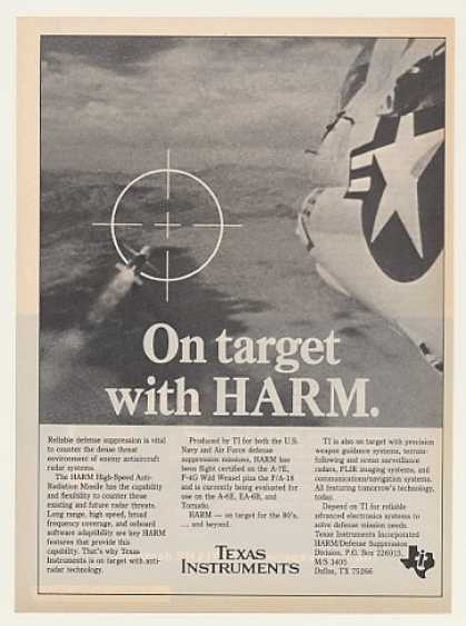 TI Texas Instruments HARM Missile Firing Photo (1983)