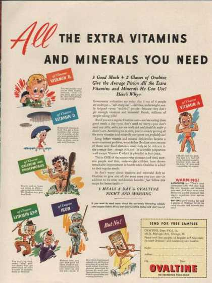 Extra Vitamins & Minerals Ovaltine Food Dr (1942)