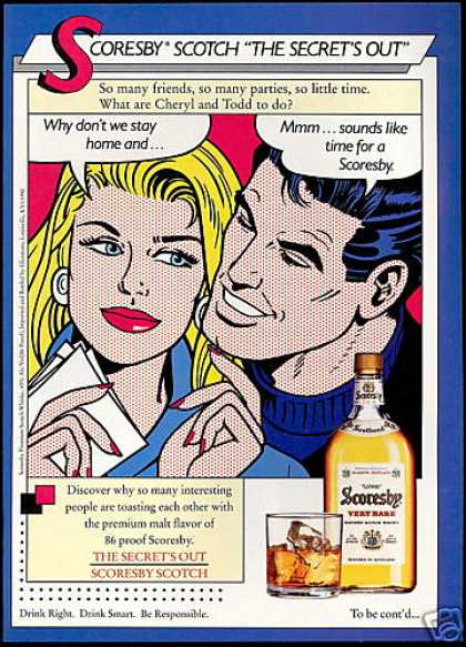 Scoresby Scotch Whisky Cheryl Todd Art (1990)
