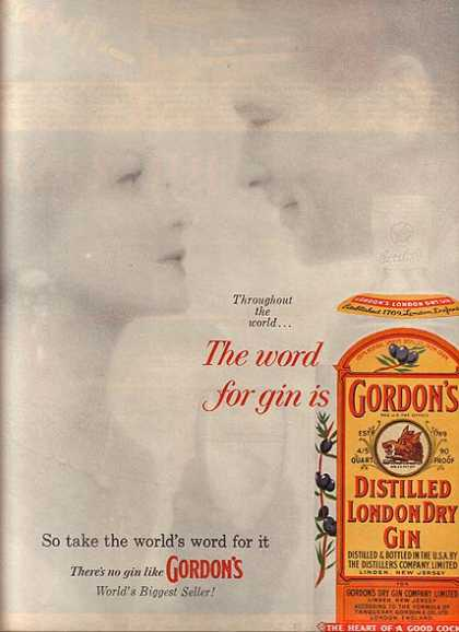 Gordon's Distilled London Dry Gin (1960)