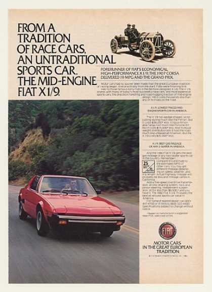 Fiat X 1/9 Mid-Engine Sports Car Photo (1980)