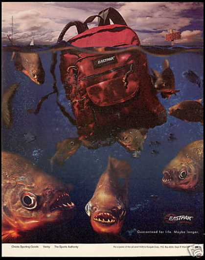 Piranha Fish Eastpak Backpack (1995)