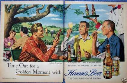 Hamms Beer Outdoor Table Golf Course Golden Moment (1950)