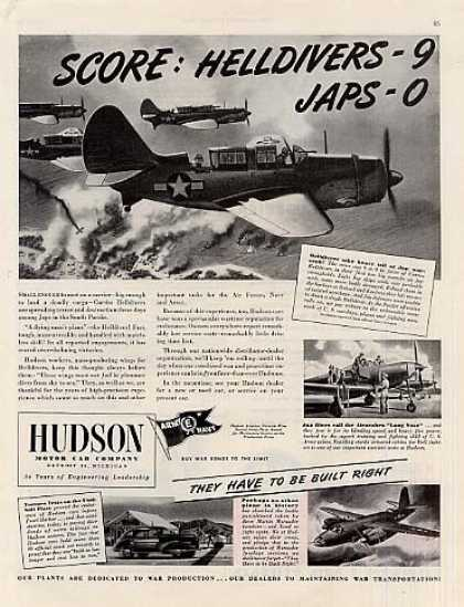 Wwii Hudson Ad Curtiss Helldiver (1944)