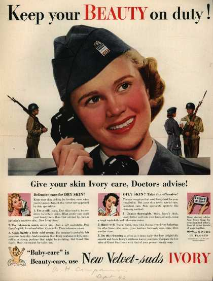 Procter & Gamble Co.'s Ivory Soap – Keep your Beauty on duty (1942)