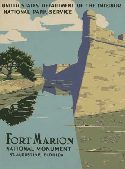 Fort Marion National Monument, St. Augustine, Florida (1938)